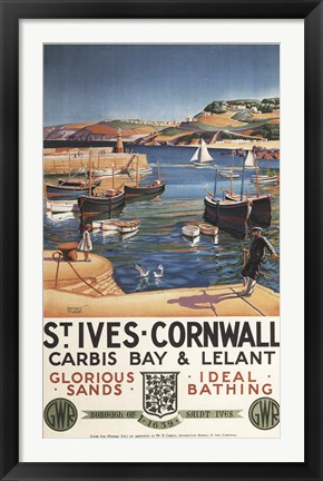 Framed St Ives Cornwall Sands Print