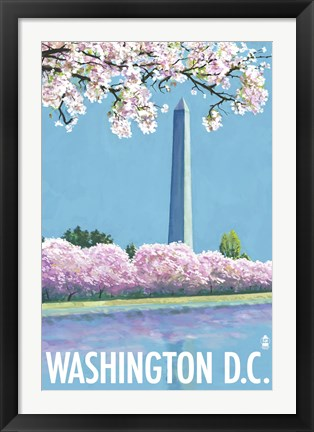 Framed Washington DC Monument Ad Print