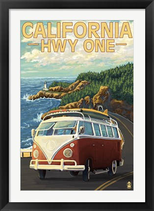 Framed California Hwy One Print