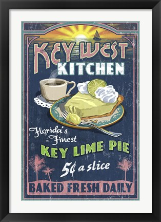 Framed Key West Kitchen Lime Pie Print