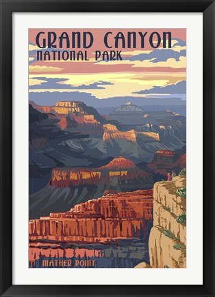 Framed Grand Canyon Park Mather Point Print