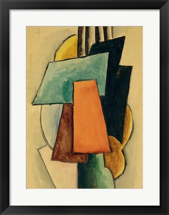 Framed Study For Painterly Architectonis, 1916 Print