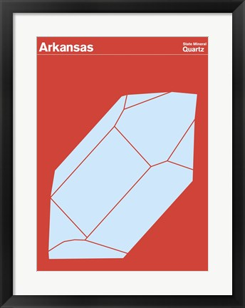 Framed Montague State Posters - Arkansas Print