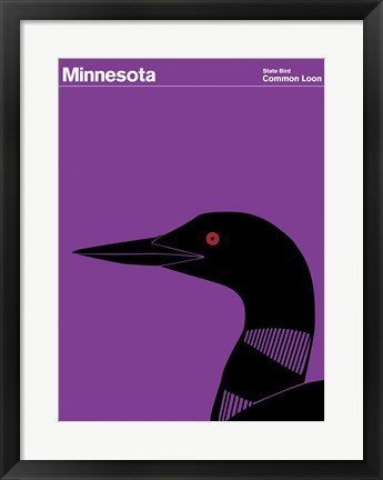 Framed Montague State Posters - Minnesota Print