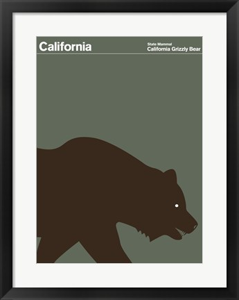 Framed Montague State Posters - California Print