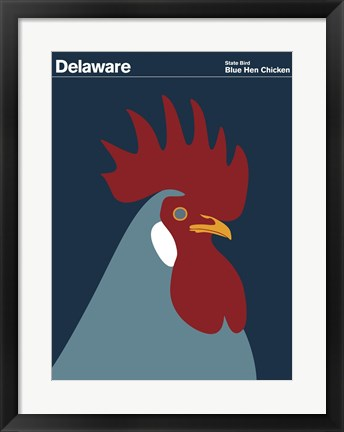 Framed Montague State Posters - Delaware Print