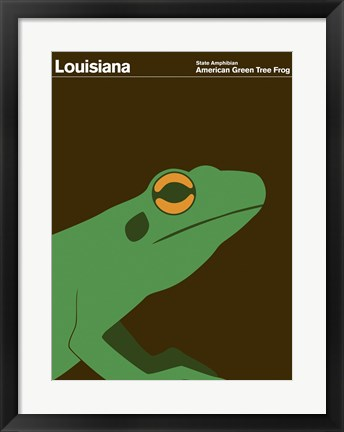 Framed Montague State Posters - Louisiana Print
