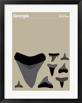Framed Montague State Posters - Georgia Print