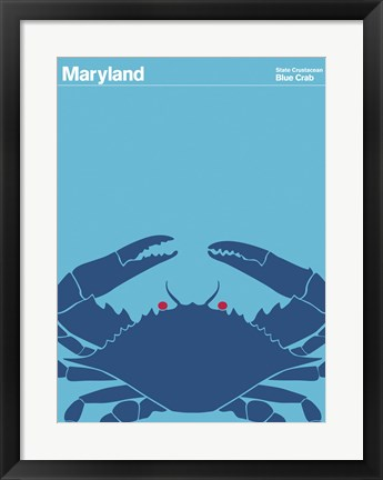 Framed Montague State Posters - Maryland Print