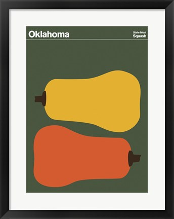 Framed Montague State Posters - Oklahoma Print