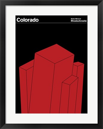 Framed Montague State Posters - Colorado Print