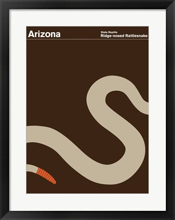 Framed Montague State Posters - Arizona Print