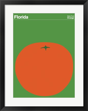 Framed Montague State Posters - Florida Print