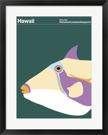 Framed Montague State Posters - Hawaii Print