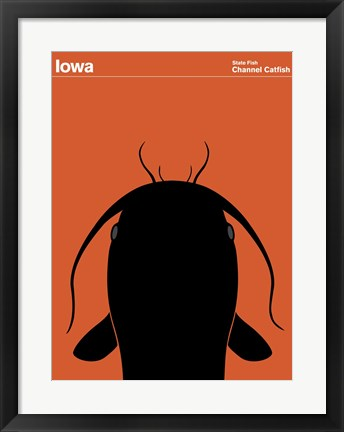 Framed Montague State Posters - Iowa Print