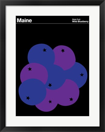 Framed Montague State Posters - Maine Print