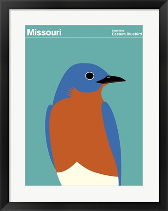 Framed Montague State Posters - Missouri Print