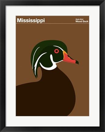 Framed Montague State Posters - Mississippi Print