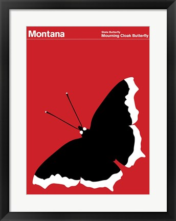 Framed Montague State Posters - Montana Print