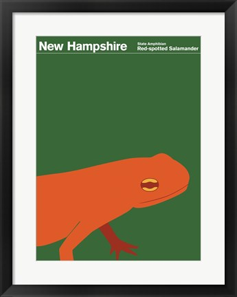 Framed Montague State Posters - New Hampshire Print