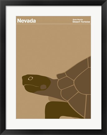 Framed Montague State Posters - Nevada Print