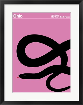 Framed Montague State Posters - Ohio Print
