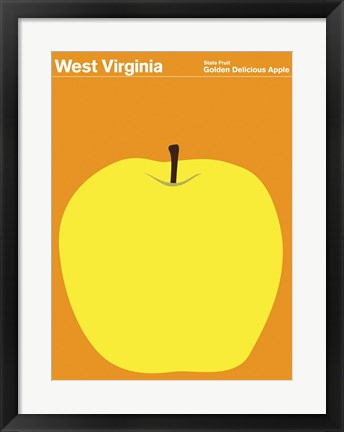Framed Montague State Posters - West Virginia Print