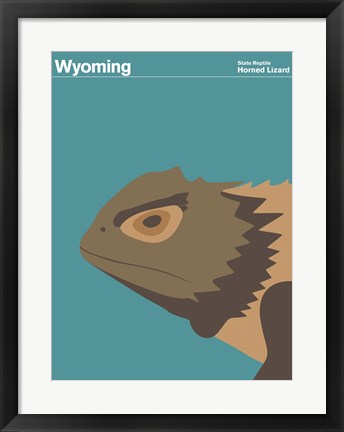 Framed Montague State Posters - Wyoming Print