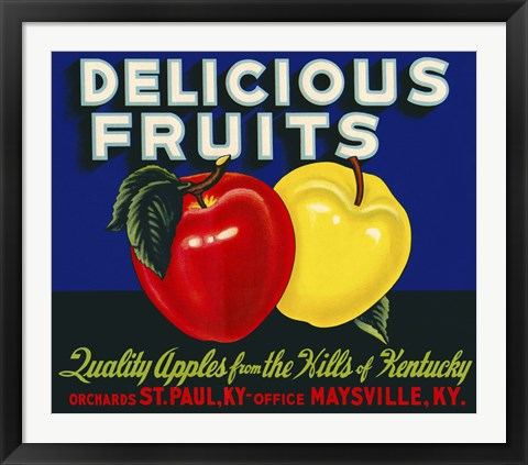 Framed Delicious Fruits Print