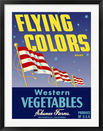 Framed Flying Colors Brand Western Vegetables Print