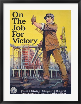 Framed On the Job for Victory Print