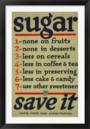 Framed Sugar, Save It Print