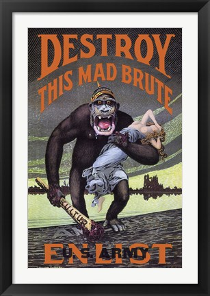 Framed Destroy This Mad Brute Print