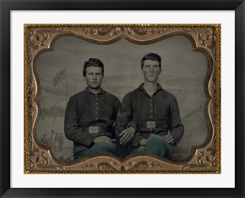 Framed Civil War Brothers in Arms Print