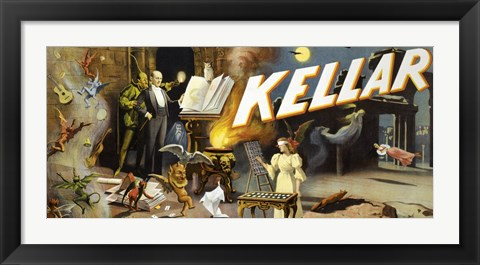Framed Kellar the Great Mystery Print