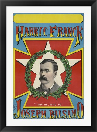 Framed Harry C. Franck as Joseph Balsamo Print