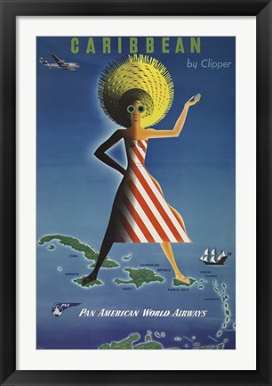 Framed Caribbean by Clipper Print