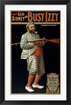 Framed Funny George Sidney as Busy Izzy Print