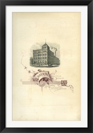 Framed Gies & Co Lithographers Print