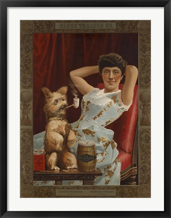 Framed Globe Tobacco Co. Goes to the Dogs Print