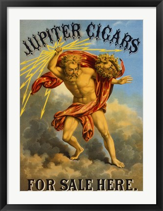Framed Jupiter Cigars For Sale Here Print