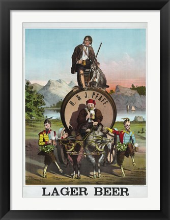 Framed Lager Beer Print
