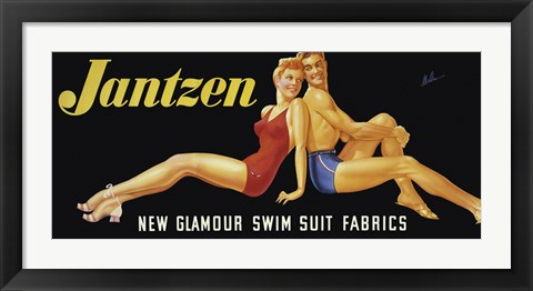 Framed New Glamour Swim Suit Fabrics Print