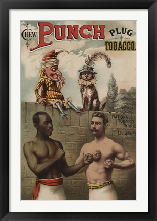 Framed Punch and Chew, 1886 Print