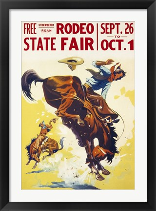 Framed Rodeo State Fair Roan Print