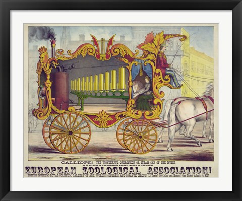 Framed Steam Car of the Muses Print