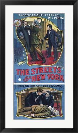 Framed Streets of New York Play Poster Print