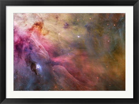 Framed Abstract Art Found in the Orion Nebula Print