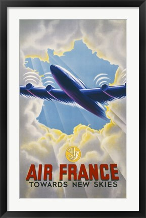 Framed Air France Towards New Skies Print