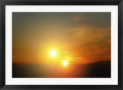 Framed Alien Sunset Print